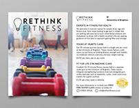 Rethink Fitness flyers