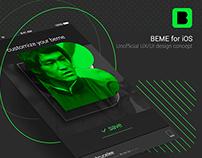 BEME for iOS - design concept