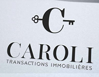 Logo agence immobilière Caroli, graphiste Loolye Labat