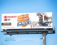 Karaköprü Belediyesi Yaşam Sokağı Billboard Tasarımı
