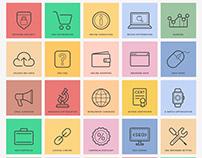 Free Flat SEO Icons Ai File