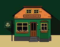Redes Sociais Clover Pub