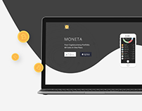 Moneta - Cryptocurrency Portfolio App | Landing Promo