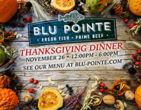 Thanksgiving Dinner at Blu Pointe