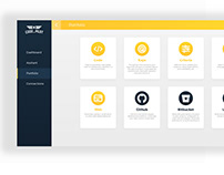 Landing page for web app