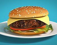C4D Softbody Dynamics Burger - Cinema 4D Tutorial
