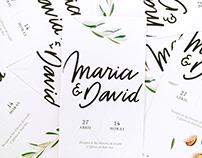 Wedding stationery | Maria & David