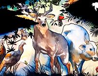 """SAGE Magazine """"The Backyard Sacred"""" Illustration"""