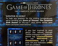 Game of Thrones event invitation
