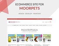 ECommerce Website Design & Build for MoorPets