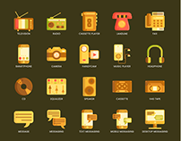 Communication and Media Modern icons 2019