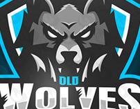 WOLF MASCOT LOGO FOR OLD WOLVES