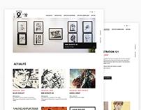Comic Art Gallery UI Re-design