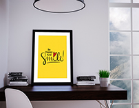 Be Happy And Smile Poster