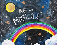 Life is Magical Mixed Media Painting