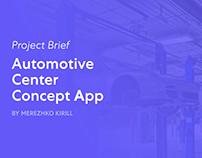 Automotive Center Concept App