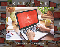 20 PSD Macbook Mockups Creative