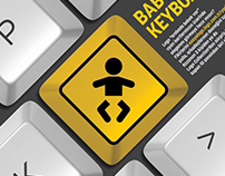 Baby on Keyboard Poster
