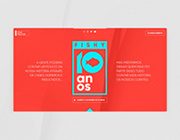 Microsite of Fishy Agency's 10th anniversary