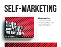 A2 poster flyer - direct mail self-marketing