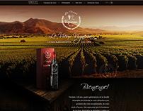 Le Vieux Vigneron — Webpage concept