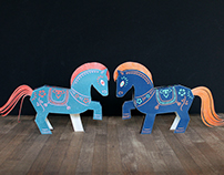 Paper Toy Horse for Chinese New Year 2014