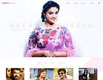 Keerthi Suresh - profile page - layout design