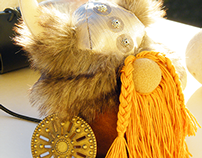 Free Shipping Handmade Viking Stuffed Doll