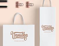 Lettering logo for Ukrainian stickers company Vanilka