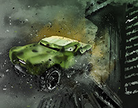 Hulk's Car Hot Wheels Digital Painting