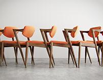 Chair NO. 42 designed by Kai Kristiansen