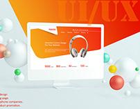 Web UI / UX design template