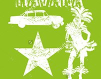Cuba Havana graphic design vector art