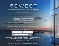 50 West Landing Page and Flyers
