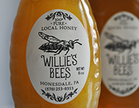 Willie's Bees Honey Labels