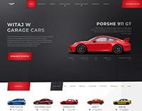 Car Rental Website UI Layout Design
