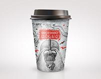 Design for coffee cup Espresso Holic (Ukraine,Kiev)