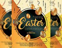 Happy Easter Celebration 2019 - Seasonal A5 Flyer