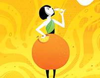 Orange Beer Poster