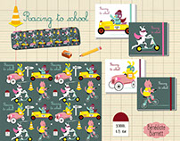 Racing to school stationery collection