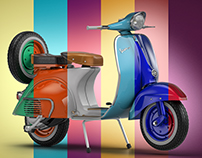 Vespa In Colours