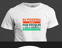 Design da Camisa, da Campanha da Faculd Fatepi-Faespi