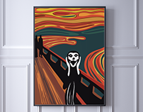 Recreating of Munch's work - The scream