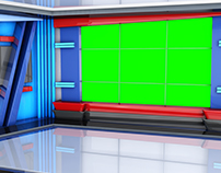 news virtual set