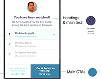 Chat with doctors healthcare app UI UX revamp, 2016