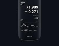 Currency Widget. Mobile app design.