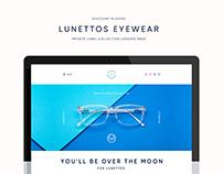 Lunettos Eyewear Brand Landing Page
