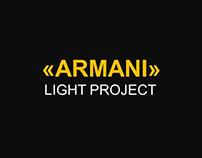 "Light project ""ARMANI"" feat FLOS"
