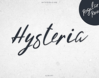 Hysteria Script - 2 styles. Free font