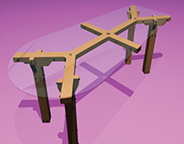 Office Table drawn in AutoCad & 3D Studio Max